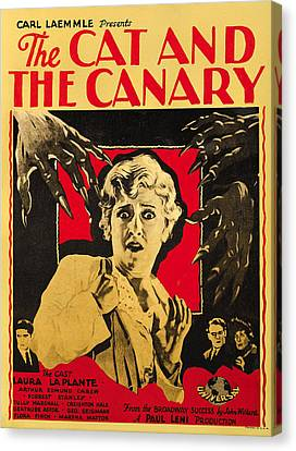The Cat And The Canary Canvas Print