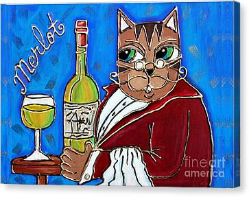 The Cat Butler Canvas Print