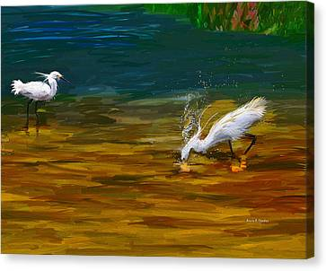 The Catch Canvas Print by Angela A Stanton