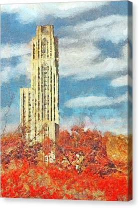 The Cathedral Of Learning At The University Of Pittsburgh Canvas Print