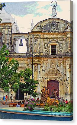 The Cathedral Of Leon Canvas Print