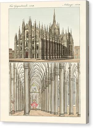 The Cathedral Of Milan Canvas Print by Splendid Art Prints