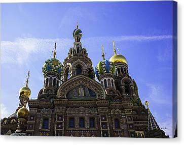 The Cathedral Of The Resurrection - St. Petersburg - Russia Canvas Print by Madeline Ellis