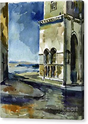 The Cathedral Of Trani In Italy Canvas Print by Anna Lobovikov-Katz
