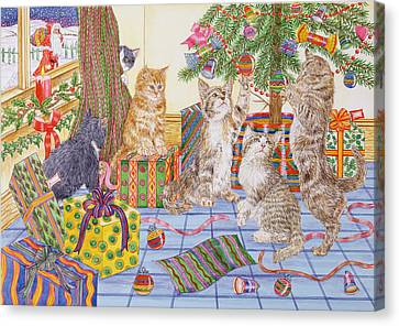 The Cats Christmas  Canvas Print by Catherine Bradbury
