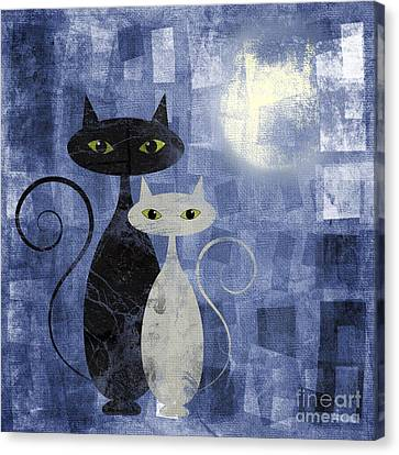 The Cats Canvas Print by Jelena Jovanovic