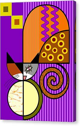 The Cat's Milk Canvas Print by Kenneth North