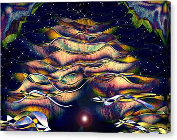 Cavern Canvas Print - The Cave Dweller by Wendy J St Christopher