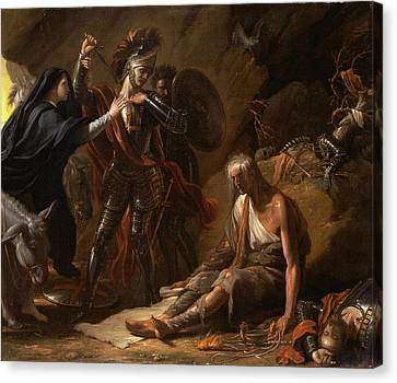 The Cave Of Despair Signed And Dated In Black Paint Canvas Print by Litz Collection
