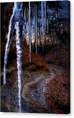 The Cave Of The Crystal Daggers Canvas Print by Robert Charity