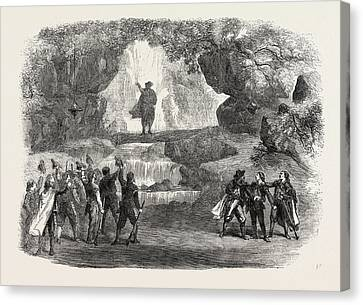 The Cavern Scene From The Miller And His Men Canvas Print by English School