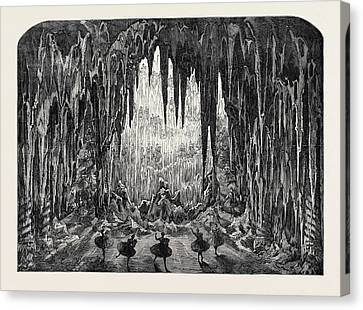 The Caverns Of Ice At The Alhambra Leicester Square London Canvas Print by English School
