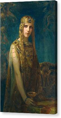 The Celtic Princess Canvas Print by Gaston Bussiere