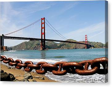 The Chain On The Gate Canvas Print
