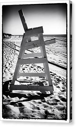 Empty Chairs Canvas Print - The Chair At Lbi by John Rizzuto