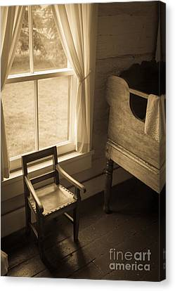 The Chair By The Window Canvas Print by Edward Fielding