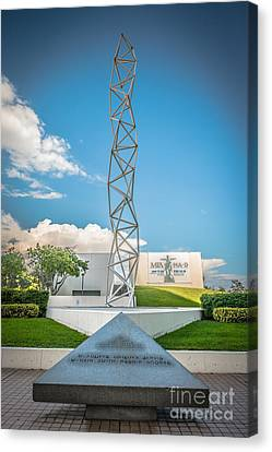 The Challenger Memorial 2 - Bayfront Park - Miami Canvas Print by Ian Monk