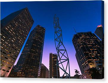 The Challenger Monument - Downtown Miami Canvas Print by Dan Vidal