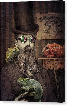 Moustache Canvas Print - The Chameleon Collector by Eric Fan