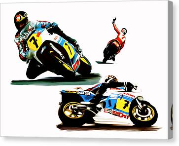 Farewell  Barry Sheene Canvas Print