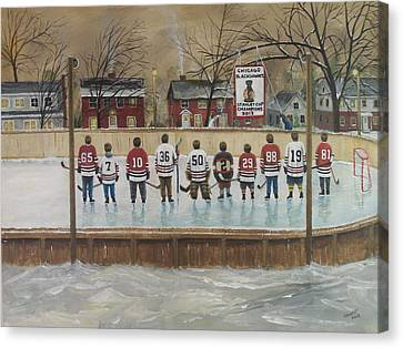 The Champs - 2013 Stanley Cup  Canvas Print by Ron  Genest