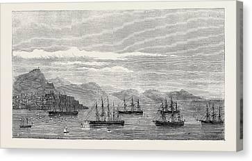 The Channel Fleet Regatta At Vigo 1874 Canvas Print