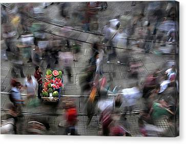 The  Chaos Of The City Canvas Print