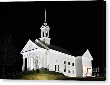 The Chapel Canvas Print by Leslie Kirk
