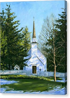 The Chapel Of The Mohawks Canvas Print by Michael Swanson