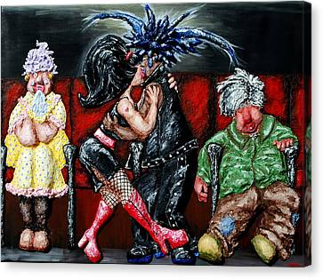 The Chaperones At The Movies Canvas Print by Alison  Galvan