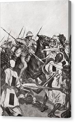 The Charge Of The 21st Lancers At Omdurman, Khartoum, Sudan During The Mahdist War In 1898.    From Canvas Print