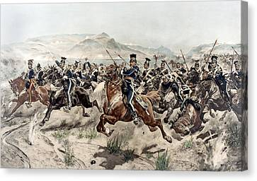 Mountainous Canvas Print - The Charge Of The Light Brigade, 1895 by Richard Caton Woodville