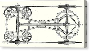 Old Car Canvas Print - The Chassis Of A Flat Wagon With Arnouxs System by English School