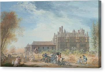 Chateau Canvas Print - The Chateau De Madrid by Louis-Nicolas de Lespinasse