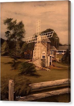 The Chatham Windmill Cape Cod Ma Canvas Print by Diane Strain