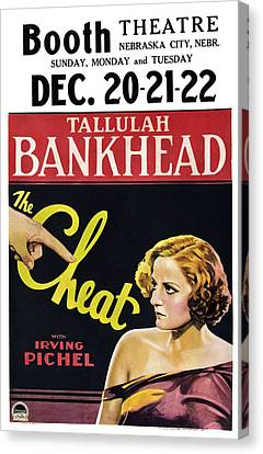 The Cheat, Us Poster, Tallulah Canvas Print by Everett