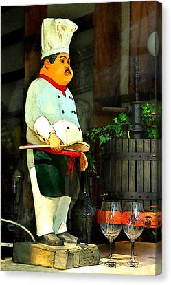 The Chef In The Window Canvas Print by James Eddy