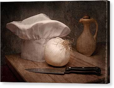 The Chef Canvas Print by Tom Mc Nemar
