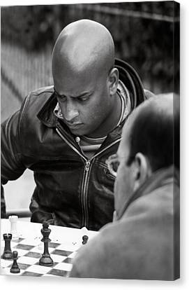 The Chess Player Canvas Print by Bernard  Barcos