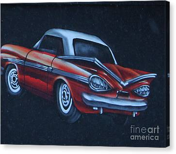 Red Chev Canvas Print - The Chev by Steven Parker