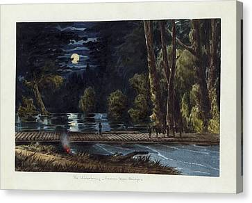 The Chickahominy- Sumner's Upper Bridge Canvas Print by Celestial Images