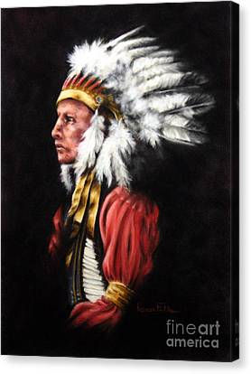 The Chief 2 Canvas Print by Karen Elkan