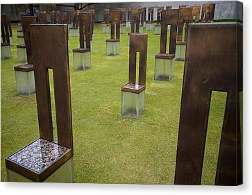 The Child's Chair Oklahoma City Memorial Canvas Print by Mary Lee Dereske