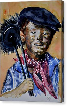 Canvas Print featuring the painting The Chimney Sweep by Steven Ponsford