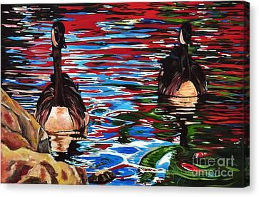 The Chincgacousy Lovers 2 Canvas Print by Henny Dagenais