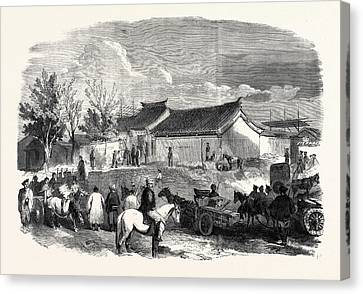 The Chinese Bringing To The British Headquarters The 300000 Canvas Print