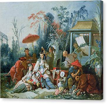 Le Jardin Canvas Print - The Chinese Garden, C.1742 Oil On Canvas by Francois Boucher