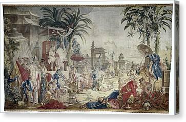 The Chinese Market, Manufacture Royale De Beauvais Canvas Print by Quint Lox