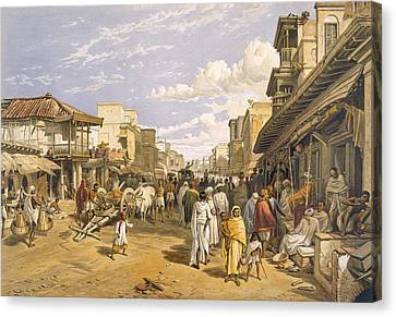 Urban Scenes Canvas Print - The Chitpore Road, From India Ancient by William 'Crimea' Simpson