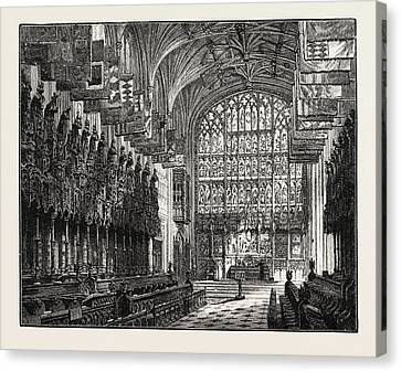 St George Canvas Print - The Choir, St. Georges Chapel, Windsor by English School